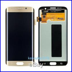 For Samsung Galaxy S7 Edge G935F lcd display touch screen Digitizer Gold+cover