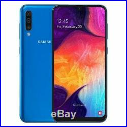 New Samsung Galaxy A50 2019 128GB Dual SIM 4G LTE Android Black Blue White Coral