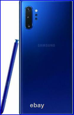 SR Samsung Galaxy Note 10+ Plus (SM-N975U) 256GB Aura Blue GSM+CDMA Unlocked