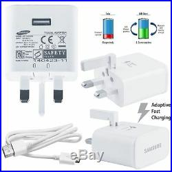Wall Mains Adaptive Fast Charger Plug for Samsung Galaxy S6 Edge Plus Note 4 5